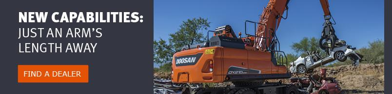 Add new capabilities to your Doosan equipment. Find your dealer to purchase attachments.