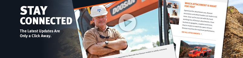 Doosan email newsletter sign up promotional image.