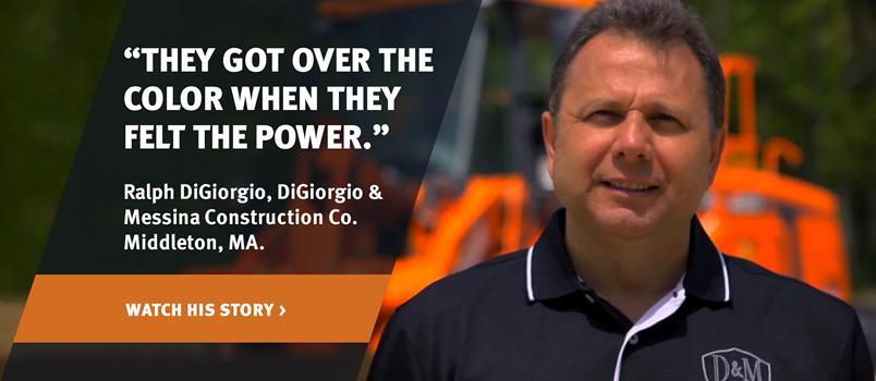 Doosan customer, Ralph DiGiorgio, on a testimonial video.
