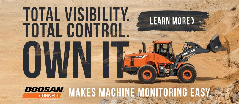 Total Visibility. Total Control. Own It. DoosanConnect makes machine monitoring easy. Learn More>