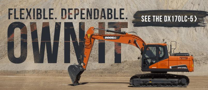 Flexible. Dependable. Own it. More about the DX170LC-5