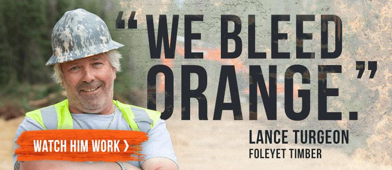 We Bleed Orange Lance Turgeon Foleyet Timber