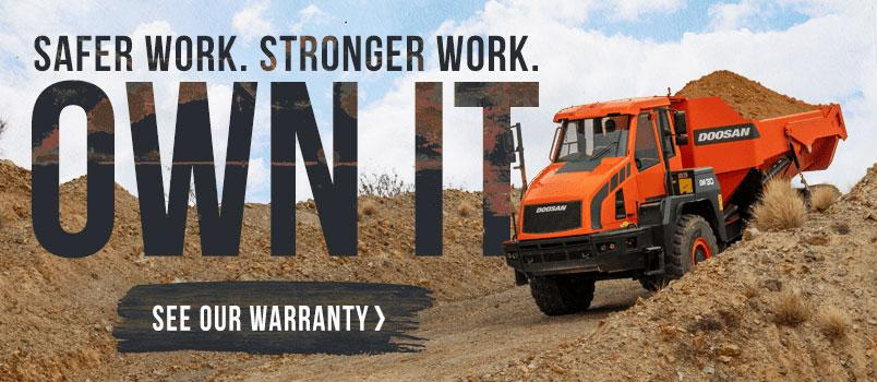 Safer work. Stronger Work. Own it. See our warranty >