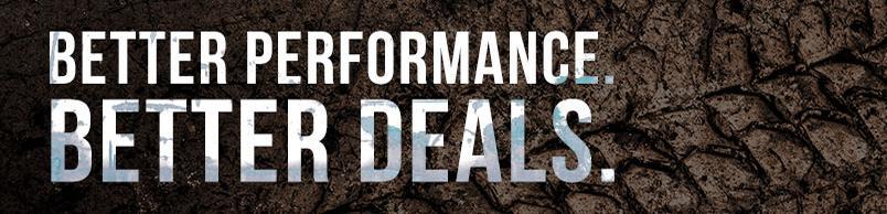 Better Performance, Better Deals.